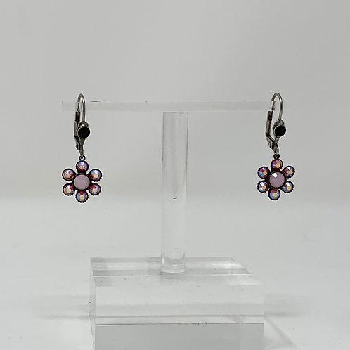 Sorrelli Earrings Pink flower drops