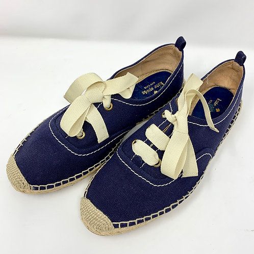 Kate Spade Tie-Up Canvas Espadrille -Fits like Sz 7