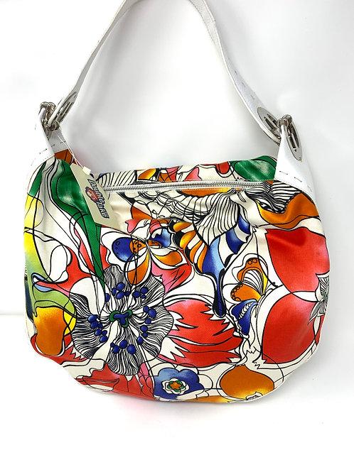 ESCADA Hobo Bag Leather & Canvas