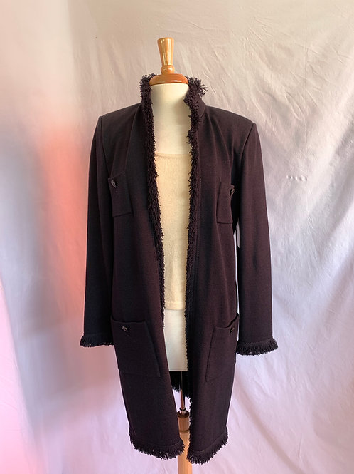 St. John Collection Jacket Black Sz 10 w/fringe