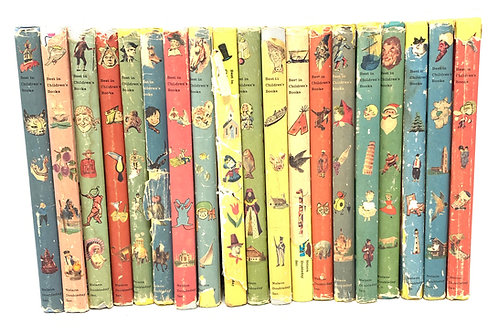 Set of 19 RARE Best in Children's Books w/dust jackets
