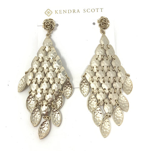 Kendra Scott Matte Gold Link Earrings