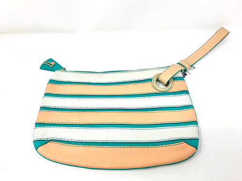 Anthropologie Pilcro and the Letterpress Leather Wristlet
