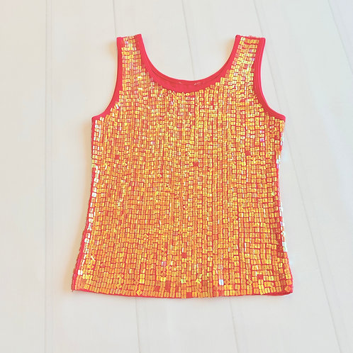 Exquisite Tank w/square sequins - Sz Sm/Md