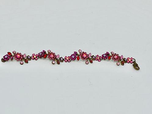 """Sorrelli Floral Bracelet (Pinks) -- 7"""""""