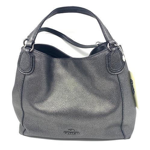 COACH Dark Gray Leather Purse (Hand/Shoulder)