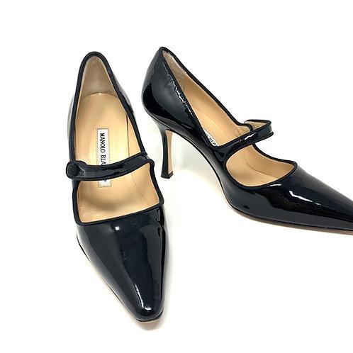 Manolo Blahnik 'Campari' Bli Patent Heel - Sz 37 (US 6.5)
