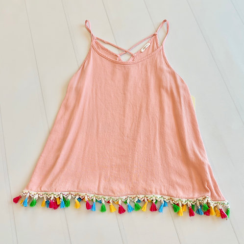 Casual Top w/Tassels by 12 pm by Mon Ami - Sz L