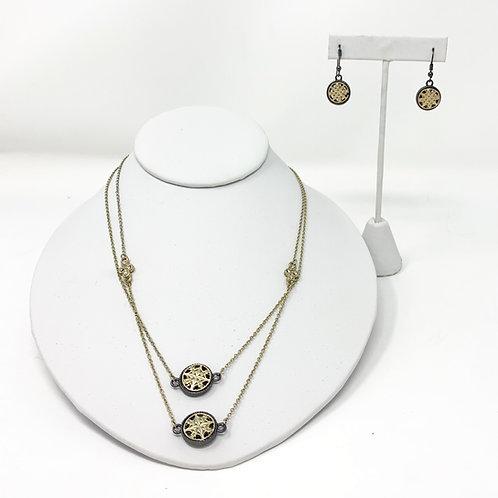 Sarah Blaine 2 piece Set: Necklace + Earrings