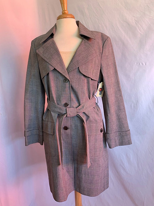 St. John Trench Coat in  Houndstooth -Sz 14