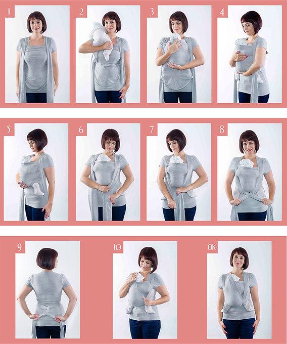 Instrucciones camiseta portabebé Quokkababy porteo