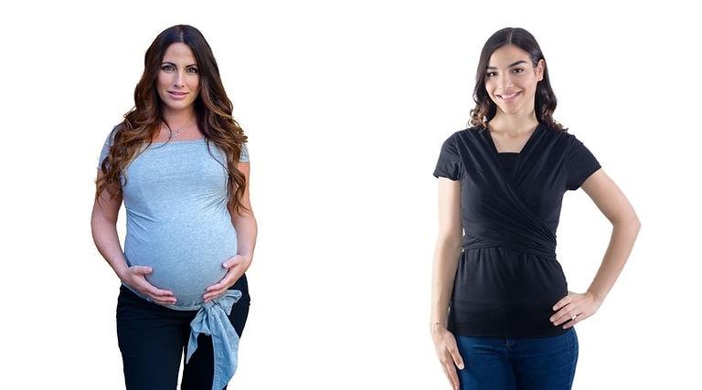 la camiseta de porteo quokkababy se puede utilizar n embarazo y lactancia