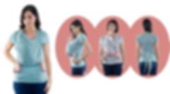 camiseta portabebe quokkababy, ergonomica para la espalda y cadera del bebé