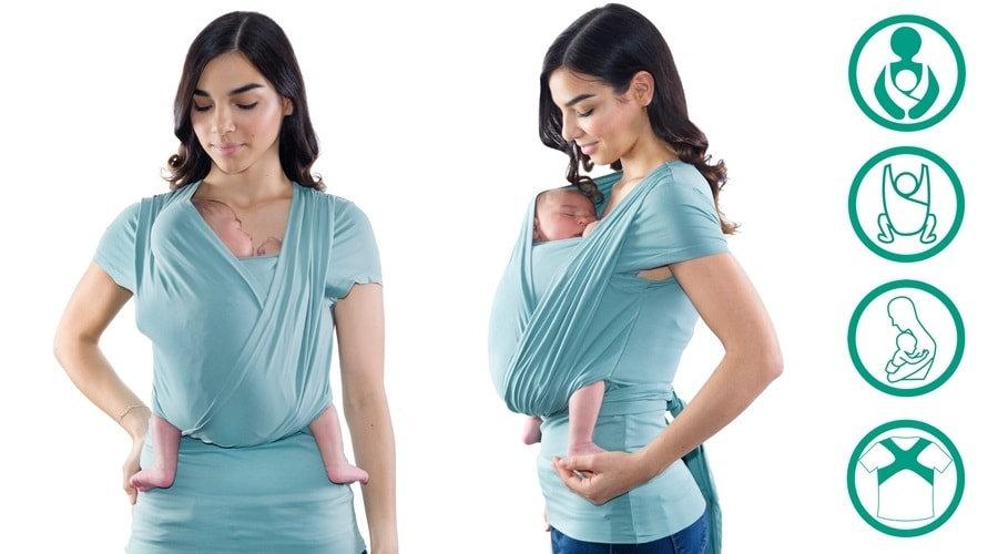 camiseta portabebe ergonomica quokkababy