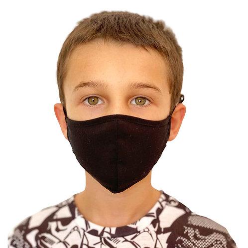 Mascarilla Antibacterial Quokkababy niño negra
