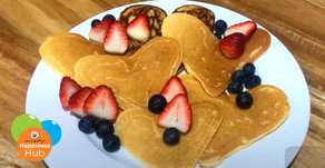 Love-Heart Shaped 'Dad-cakes' Recipe - Pancakes for Father's Day