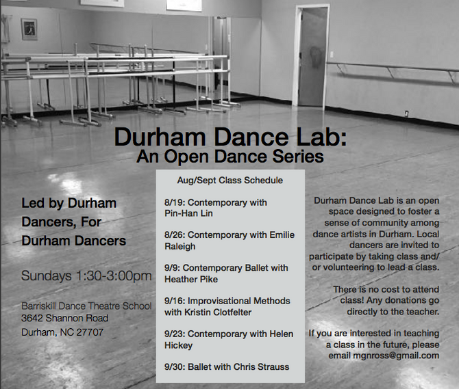 Announcing: Durham Dance Lab!