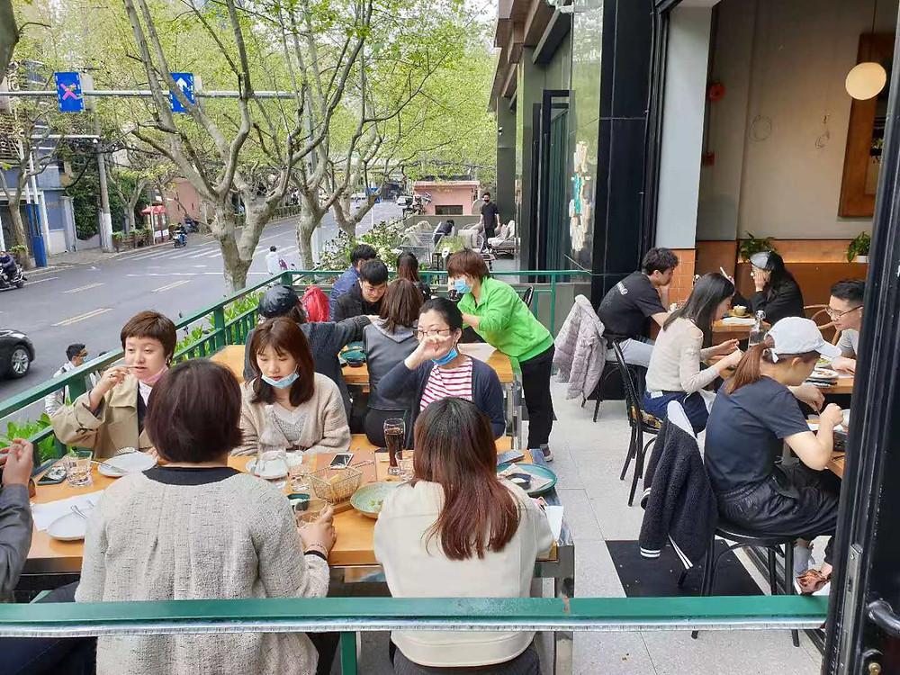 Melbourne Restaurant Shanghai - Indoor/Outdoor Setting