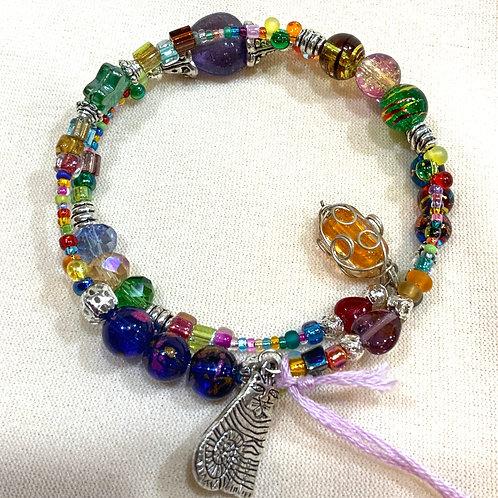 Memory Wire Bracelet Multicolored