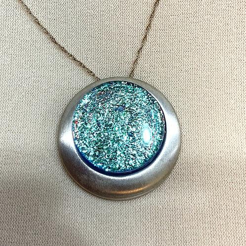 Dichroic Glass Pendant - light blue