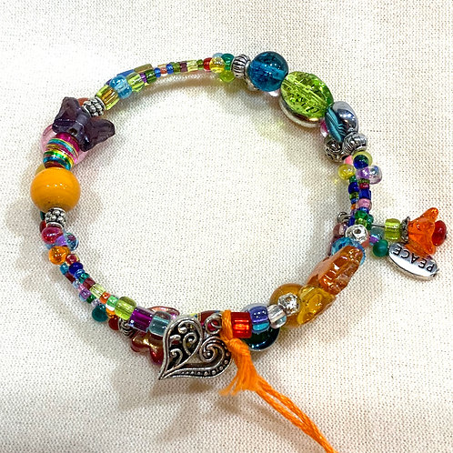 Memory Wire Bracelet Multicolored
