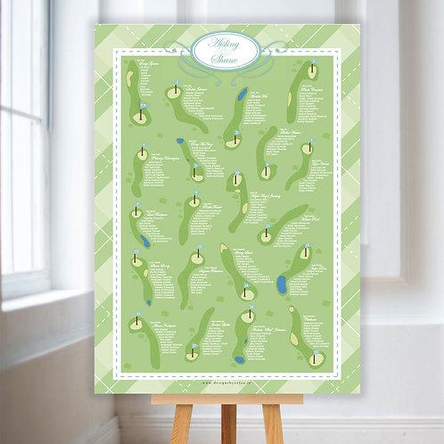Golf Course Table Plan