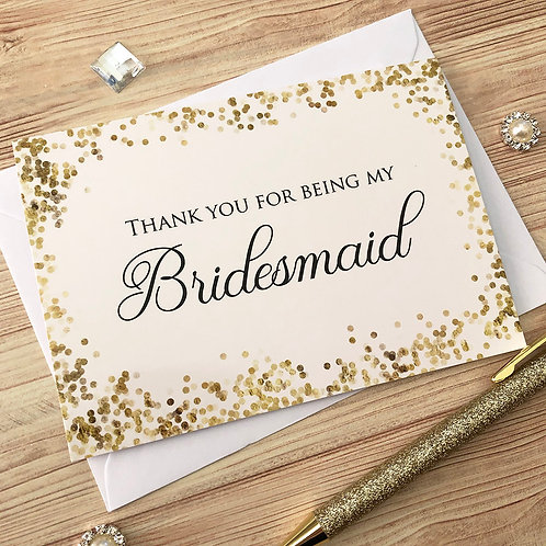 Thank you for being my Bridesmaid - Card