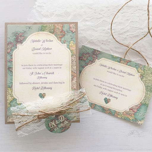Travel themed invitations from the summ