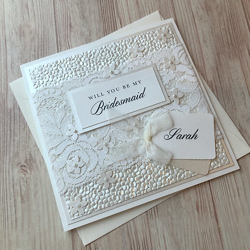 Will you be my Bridesmaid - Handmade Card