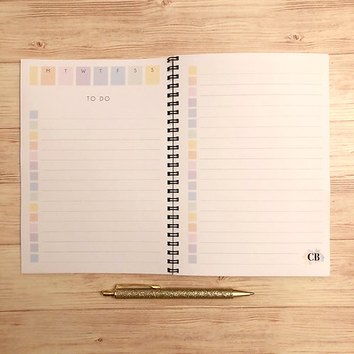 Custom Weekly 'To Do' Notebook - A5