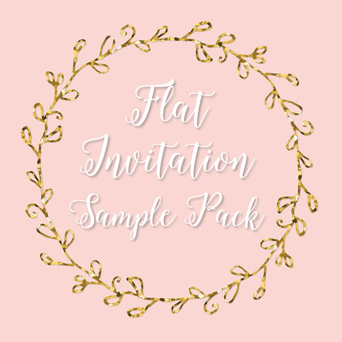 Flat Invitation Sample Pack