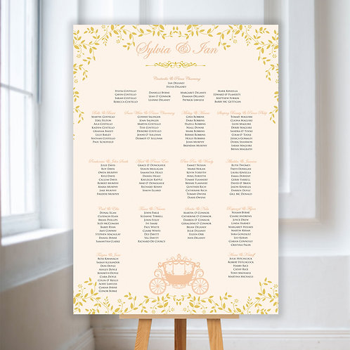Fairytale Table Plan
