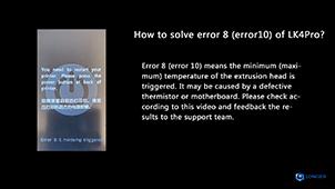 LONGER LK4Pro How to Solve Error 8 Error