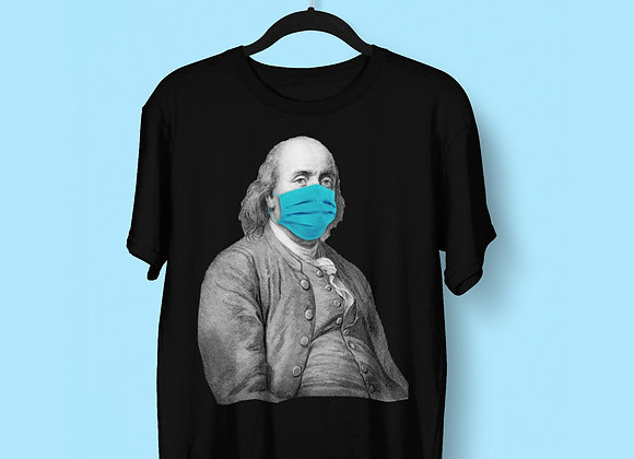 President Benjamin With Face Mask, Unisex T-shirt, Virus Funny, Meme
