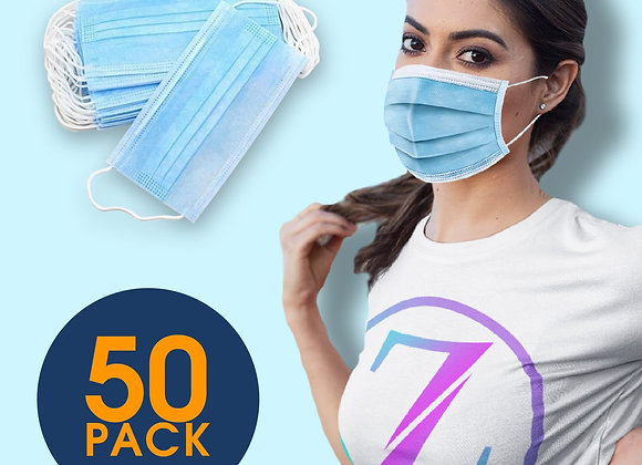 3 Layer Disposable Surgical Blue Face Mask