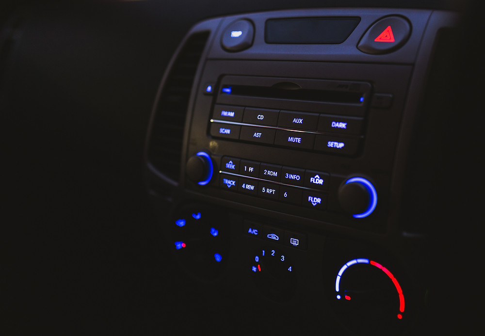 Image of car control panel