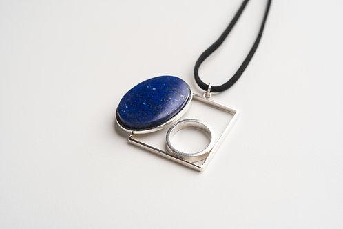 PINGENTE Ao2 com Lápis Lazuli  (Grd.)