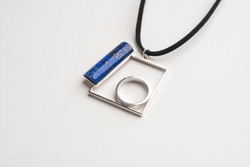PINGENTE Ao2 com Lápis-lazuli (Grd.)