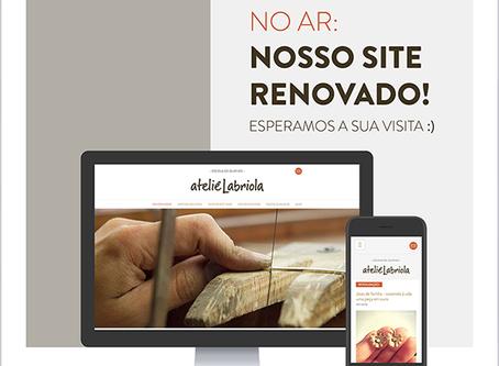 Novo site do Ateliê Labriola no ar!
