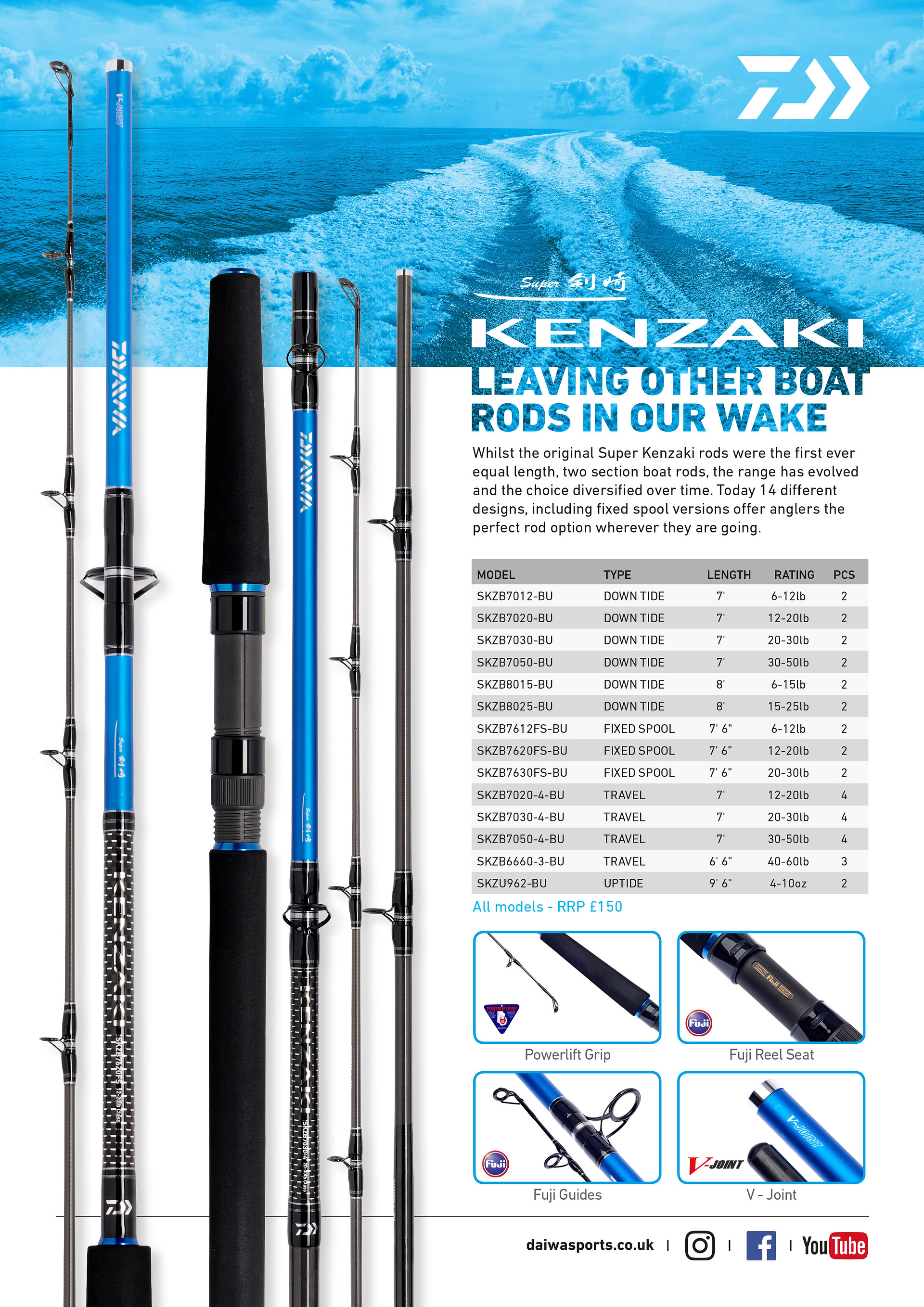 Daiwa Super Kenzaki Rods