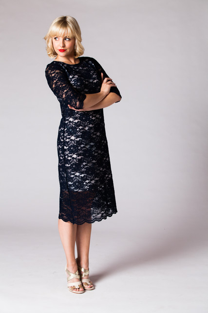 Lace + Silk (not polyester)