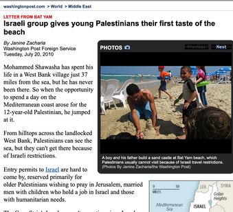 Israeli group gives young Palestinians their first taste of the beach