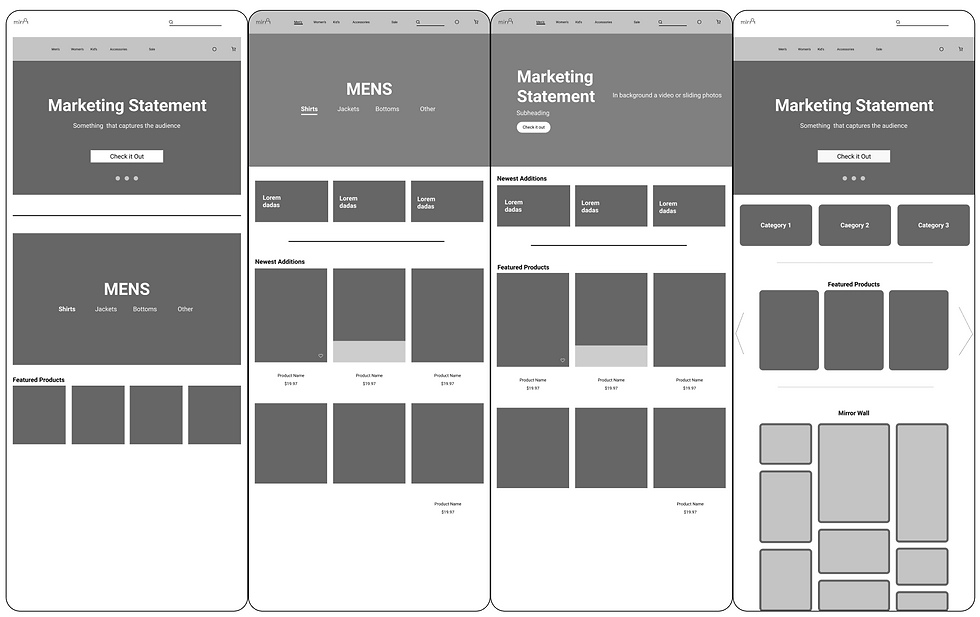 Landing Page Iterations