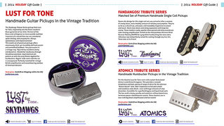 Lust for Tone Featured in Premier Guitar Holiday Gift Guide