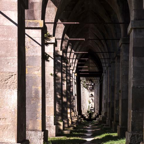 Voutes et fondations - Pont suspendu de Tonnay-Charente