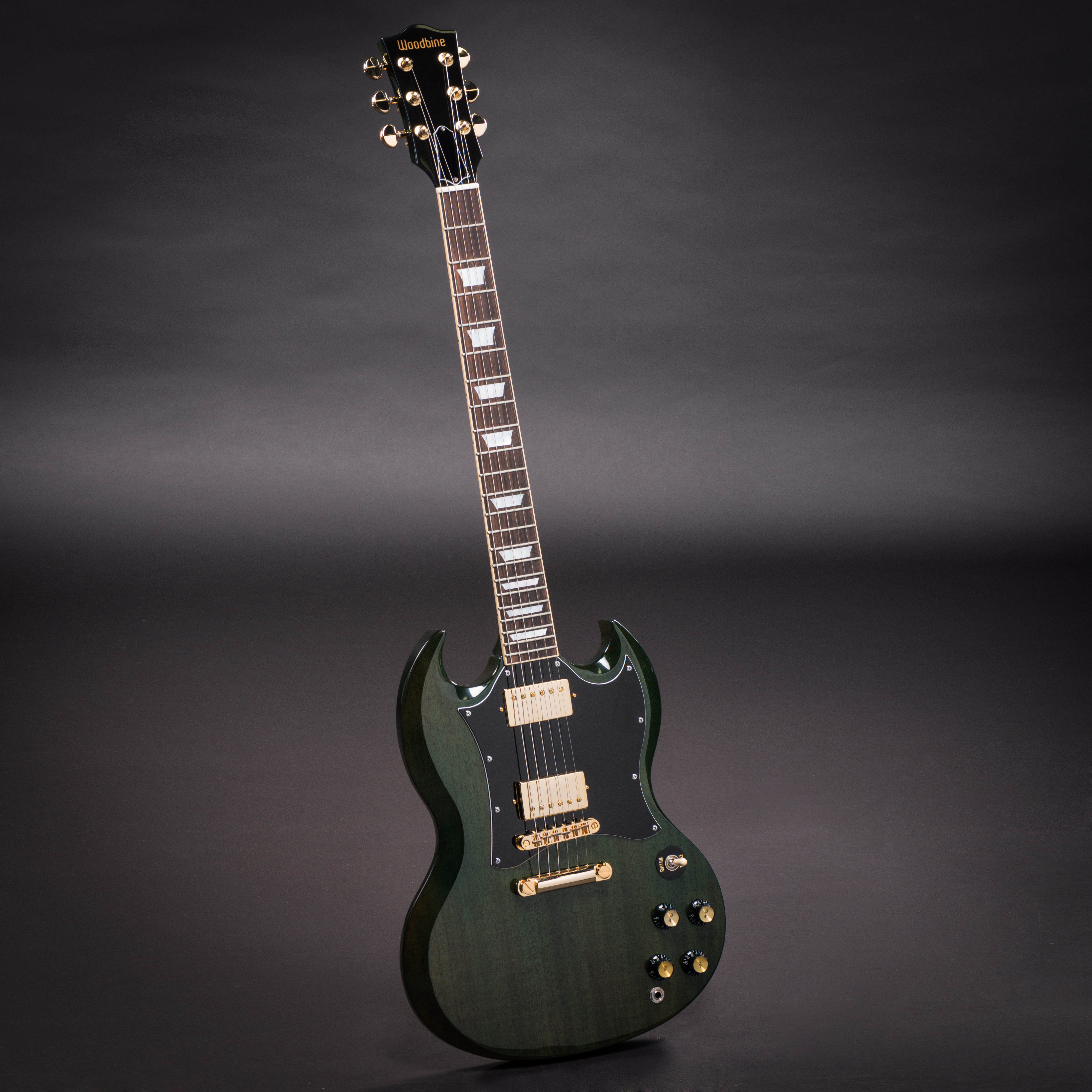 Emerald Green Double Cutaway