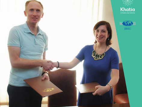 Khatia Communication signed a memorandum of cooperation with the International Black Sea University
