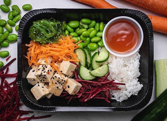 Pokebowl végétarien au tofu mariné