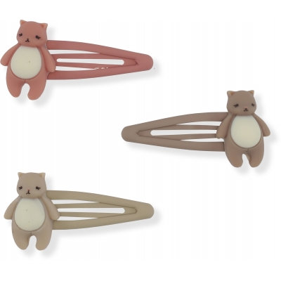 3 PACK HAIR CLIPS ICON