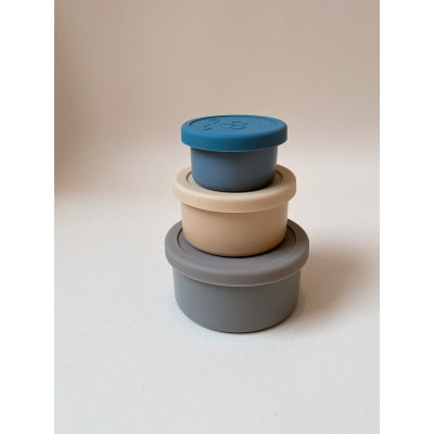 3 PACK FOOD BOXES LID ROUND